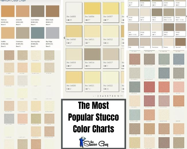 6 Of The Most Popular Stucco Color Charts, All In One Place