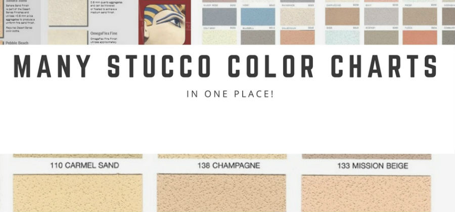 6 of the most popular stucco color charts all in one place for Most popular stucco colors