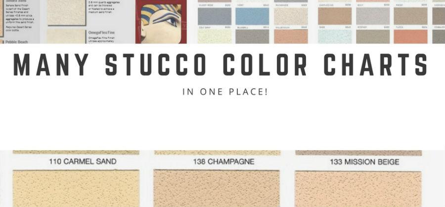 A Few Stucco Color Charts