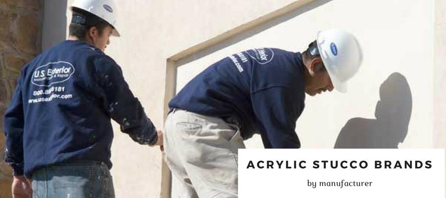 Acrylic Stucco Brands Explained