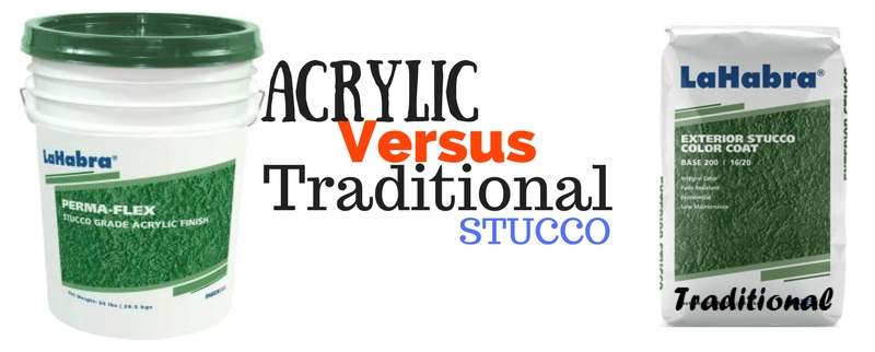 Acrylic Stucco VS Traditional Stucco