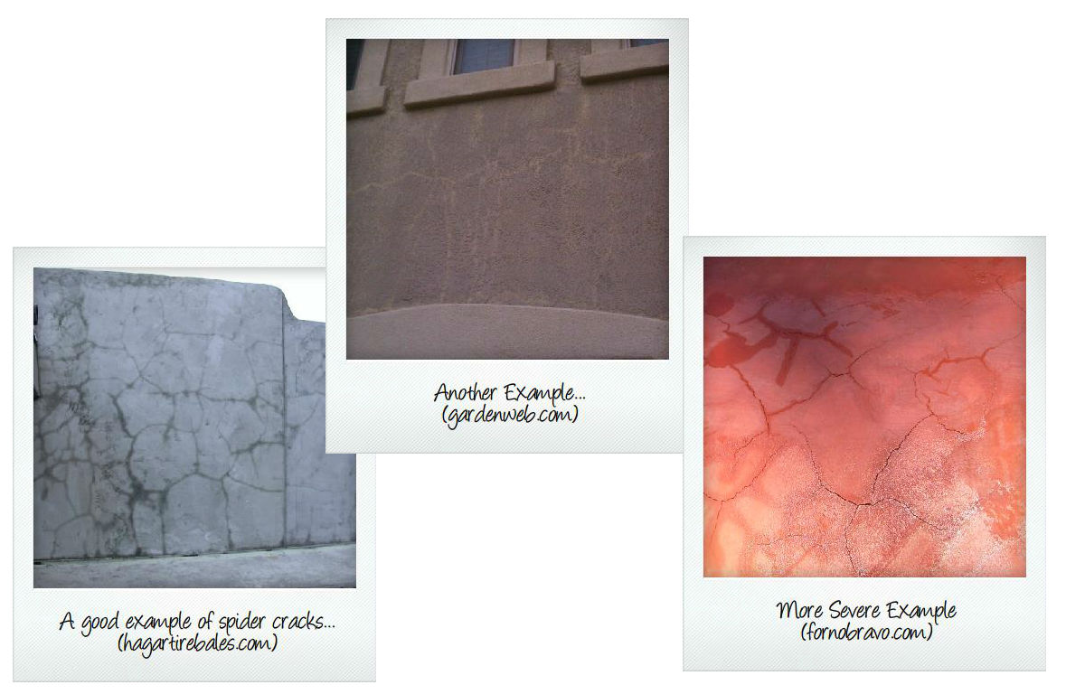 A Few Examples Of Spider Cracking