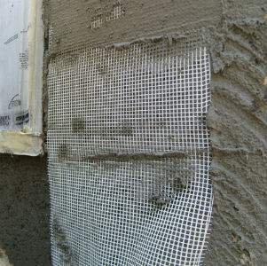 Embedding Mesh Into Stucco Base Coat