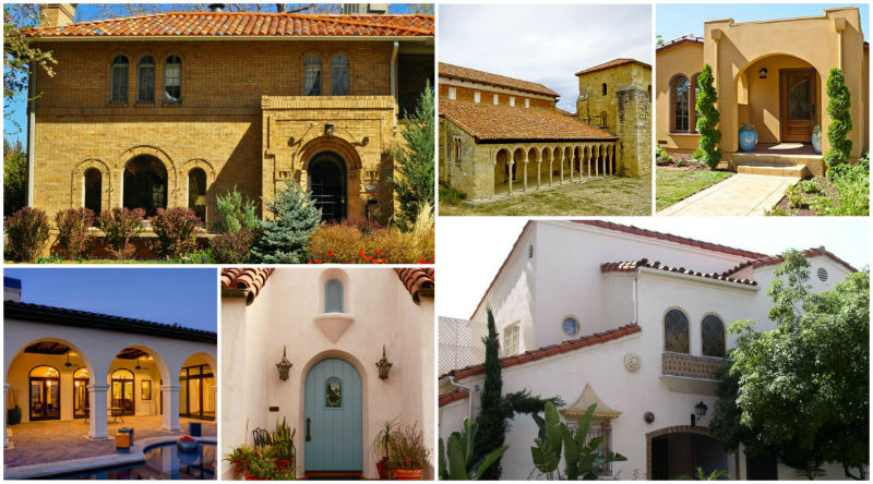 Arches On Spanish Style Stucco Homes