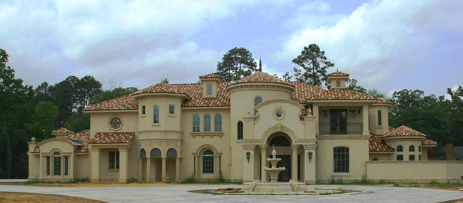 12 mediterranean style stucco house examples for Beautiful mediterranean homes