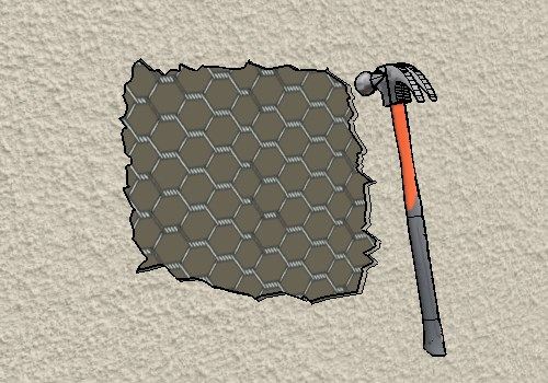 Break Out Stucco Using A Hammer