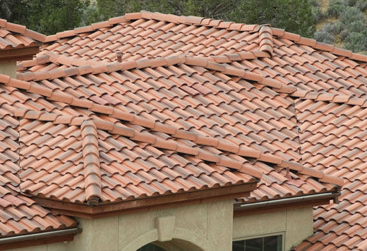 How to get that spanish stucco look for Type of roof tiles