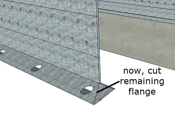 Cut The Remaining Flange