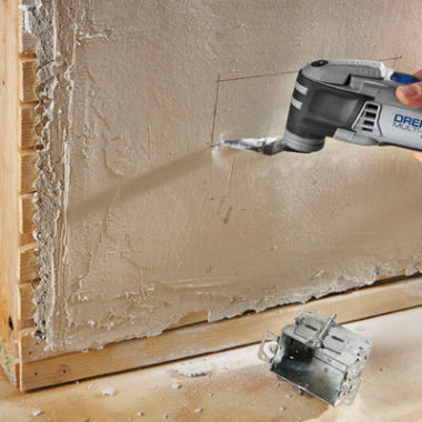 Cutting Through Plaster With A Dremel Tool