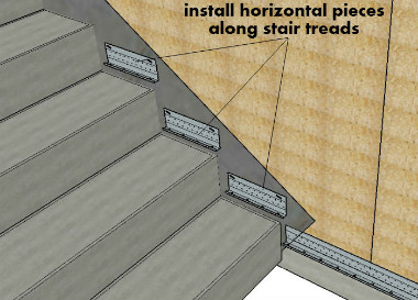 Install Horizontal Pieces