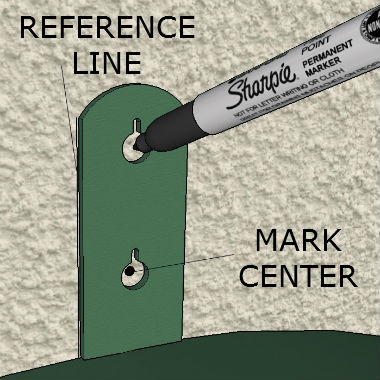 Mark Center Of Hole With Sharpie
