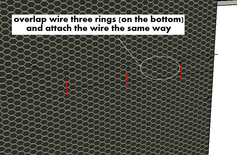 Horizontal Overlap Of Wire