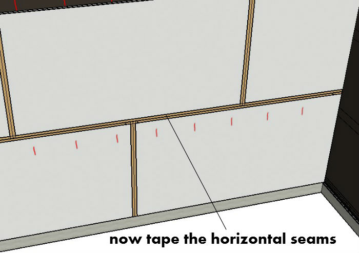 Tape The Horizontal Seams