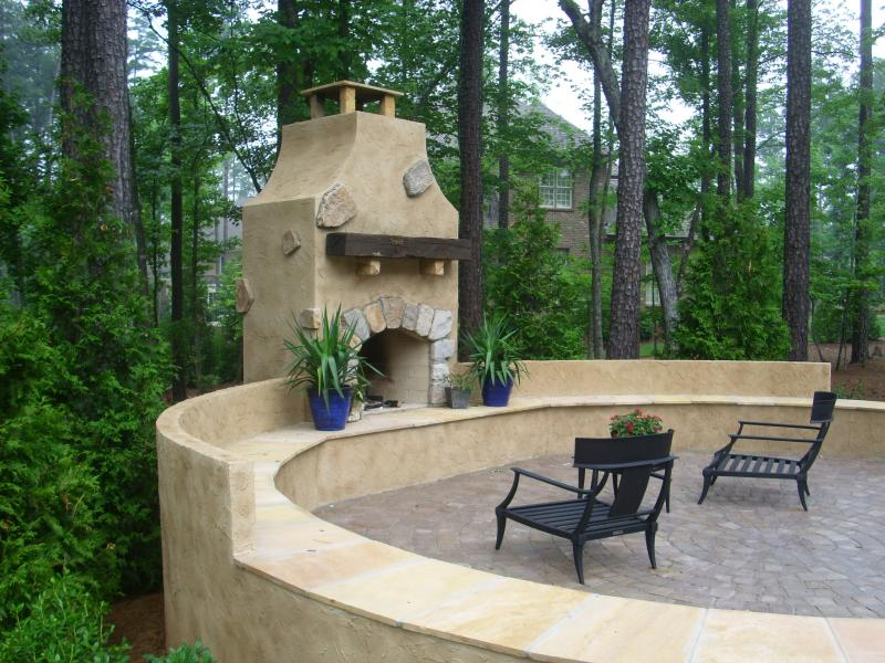 A Larger Outdoor Fireplace