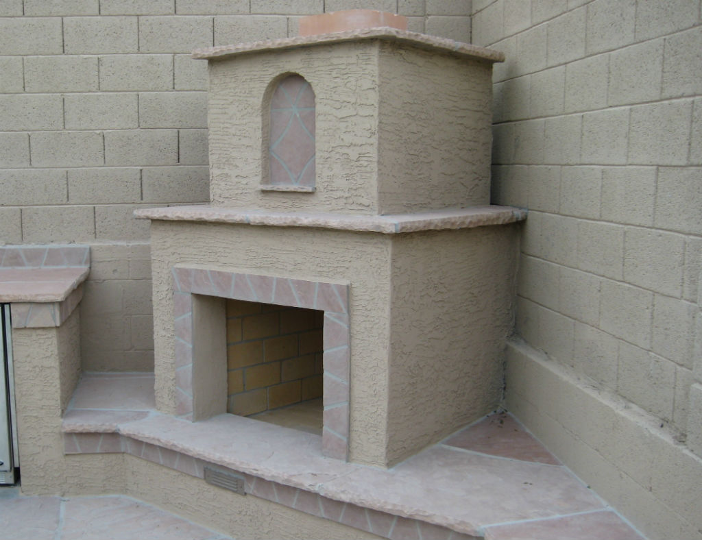 A Simple Corner Fireplace