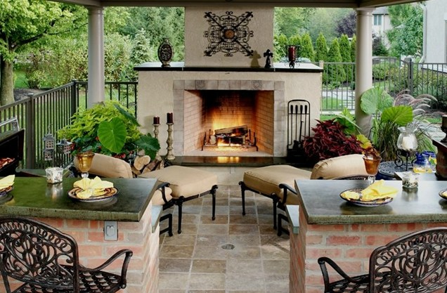 A Must Have Fireplace For The Patio