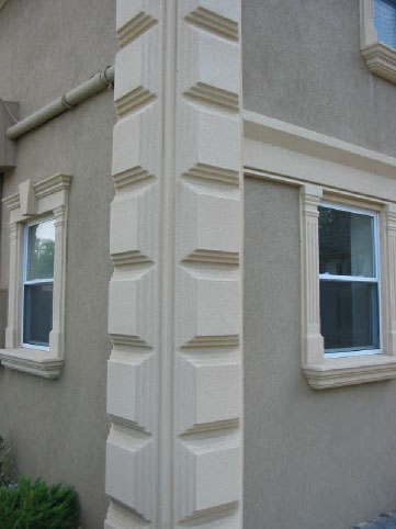 Elaborate Stucco Quoin Design