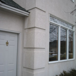 Symetrical Stucco Quoin Design