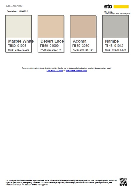 Example Of The PDF Color Chart