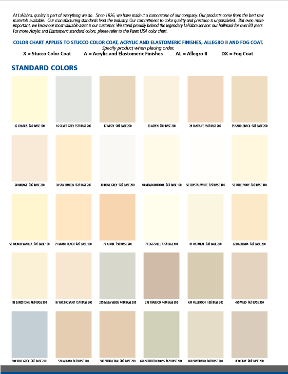 LaHabra Color Chart Page 4