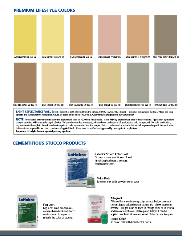 LaHabra Color Chart Page 5