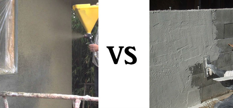 Spraying Stucco VS Hand Spreading Stucco What You Need To Know