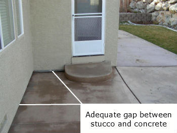 Proper Gap Between Weep Screed And Concrete
