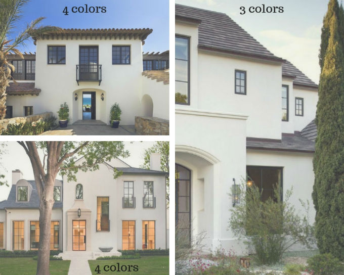 White Stucco Houses The Details Matter