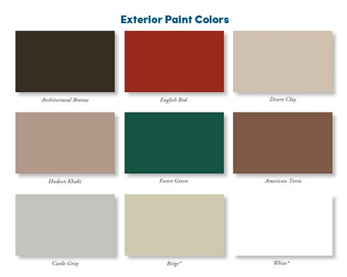 Window Frame Color Options Examples