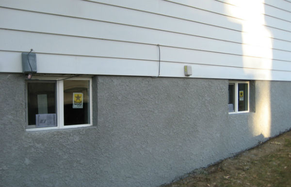 An Example Of A Lighter Lace Texture On A Foundation Wall