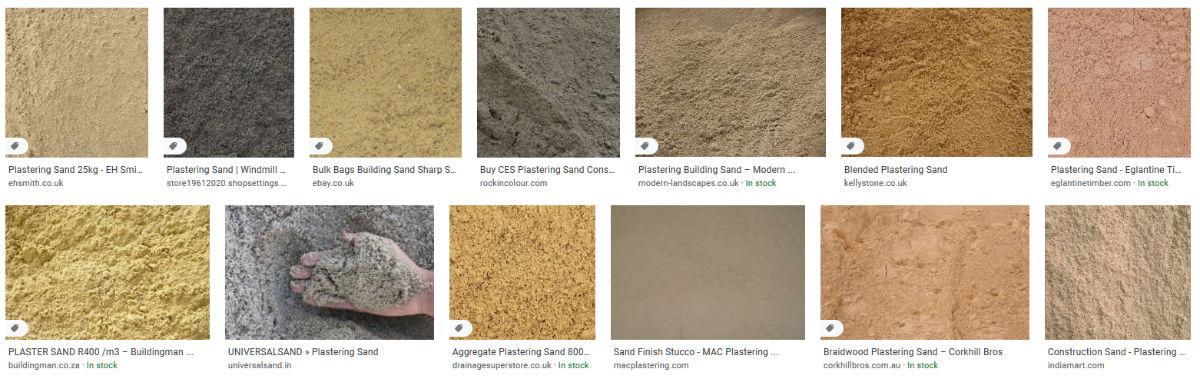 Plastering Sand Variations