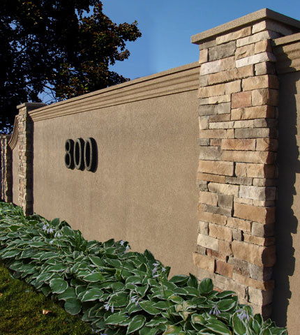 A Modern Example Of Rock And Stucco With A Little Bit Of Trim