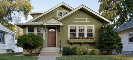 A Nice Smaller House With Painted Stucco