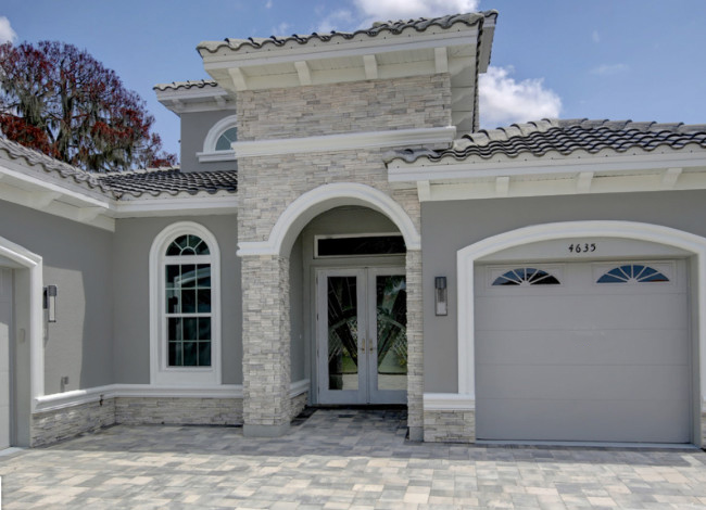 Gray Stucco Color House 2