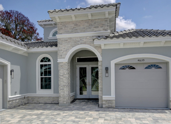 Gray Stucco Color House 3