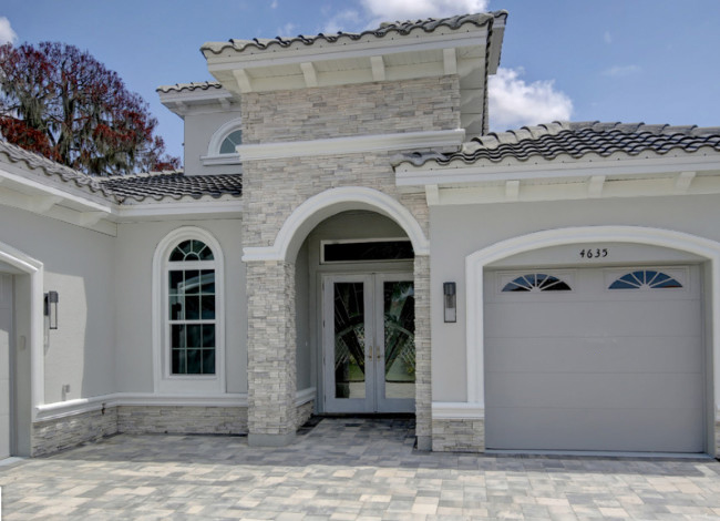 Gray Stucco Color House 5