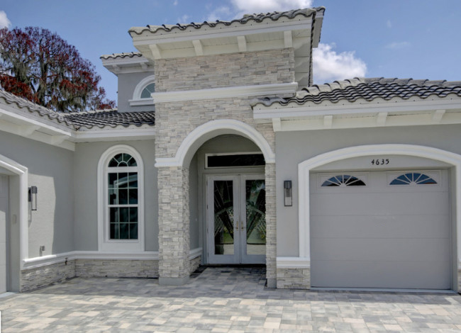Gray Stucco Color House