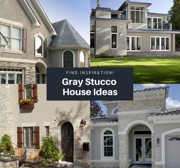 Gray Stucco House Ideas And Inspiration