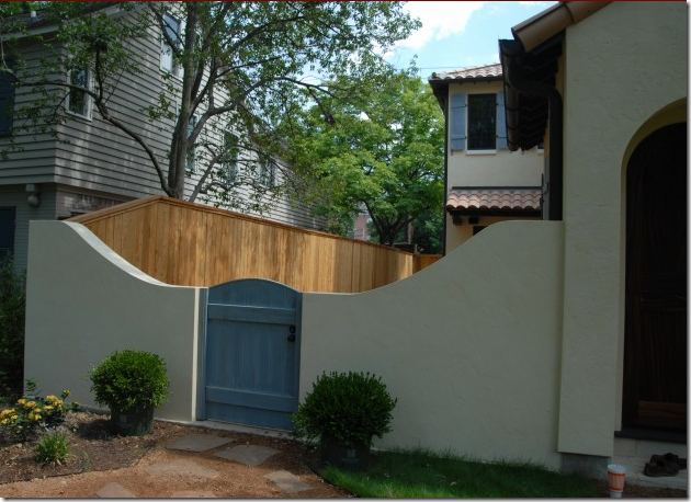 Simple Stucco Wall With Gate