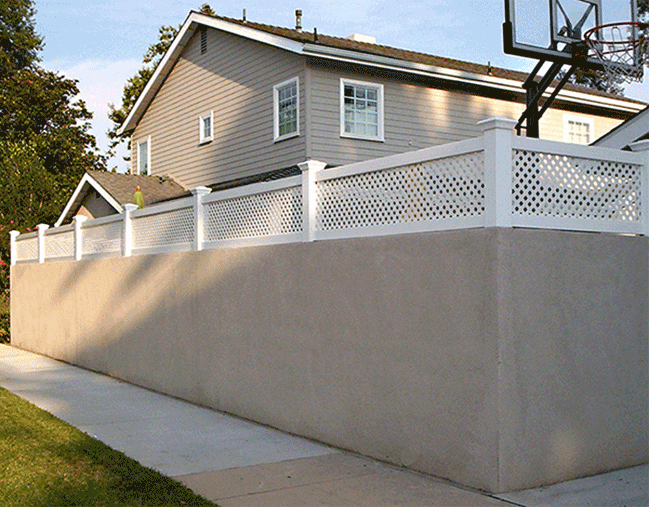 Stucco Fence With Lattice On Top