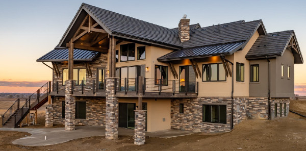A Beautiful Home With Darker Brown Rock Work
