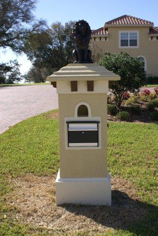A More Intricate Mailbox Design With Wooden Corbals