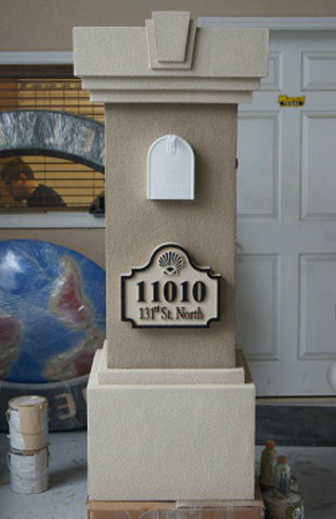 A More Intricate Stucco Mailbox With Lots Of Foam Details