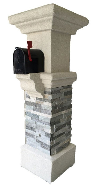 A Nice Mailbox With Grey Ledgestone