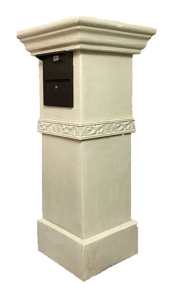 A Smoother Stucco Finish On An Elegant Mailbox