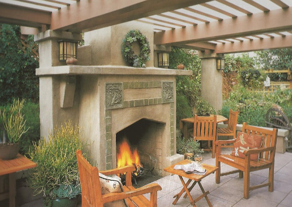 An Exquisite Seating Area With Fireplace