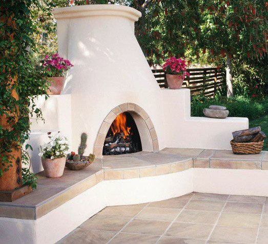 An Outdoor Kiva Fireplace