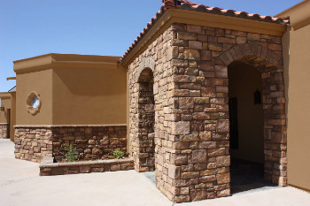 Darker Color With Brown Stone Work