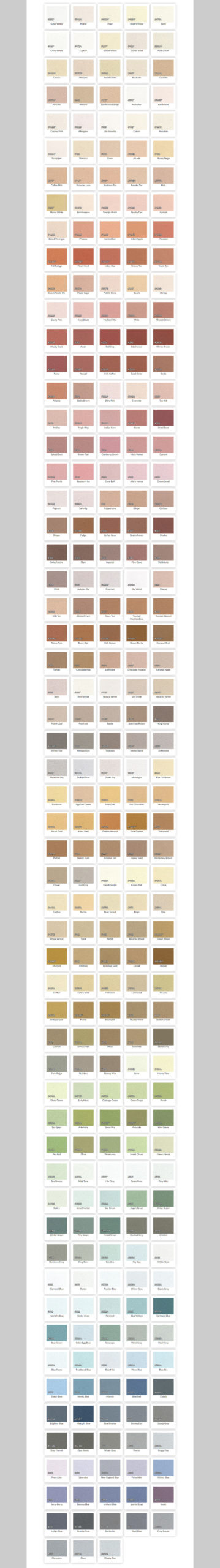 Dryvit Standard Colors
