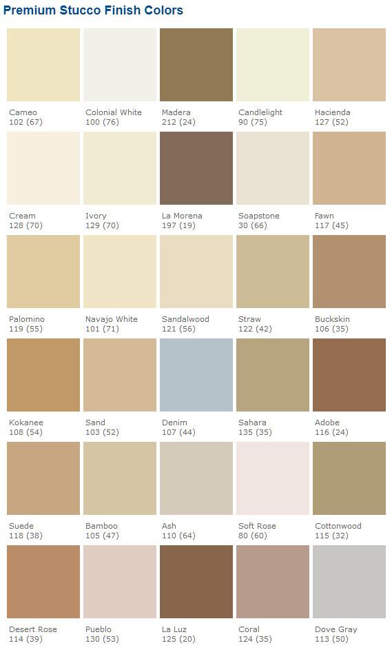 Most Por Stucco Color Charts